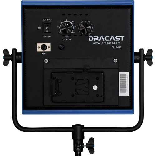 Dracast LED1000 Pro Bi-Color LED Light with V-Mount Battery Plate