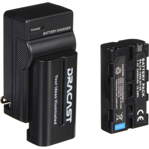 Dracast 2x NP-F 2200mAh Battery and 1 Charger Kit