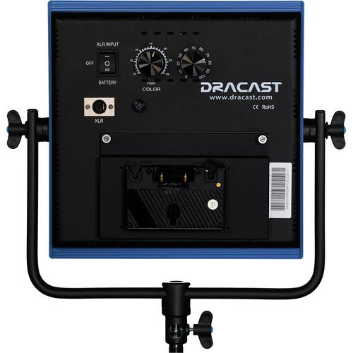 Dracast LED1000 Pro Bi-Color LED Light with Gold Mount Battery Plate
