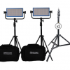 Dracast LED500 Pro Daylight LED 2-Light Kit with V-Mount Battery Plates and Stands