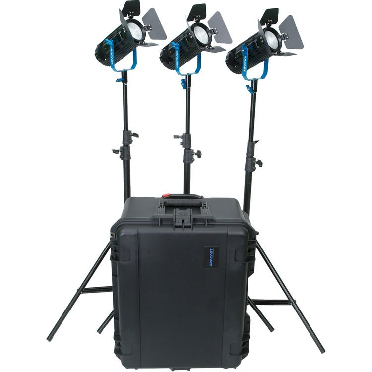 DRACAST BOLTRAY PLUS 400 DAYLIGHT 3 LIGHT KIT HARD CASE 1