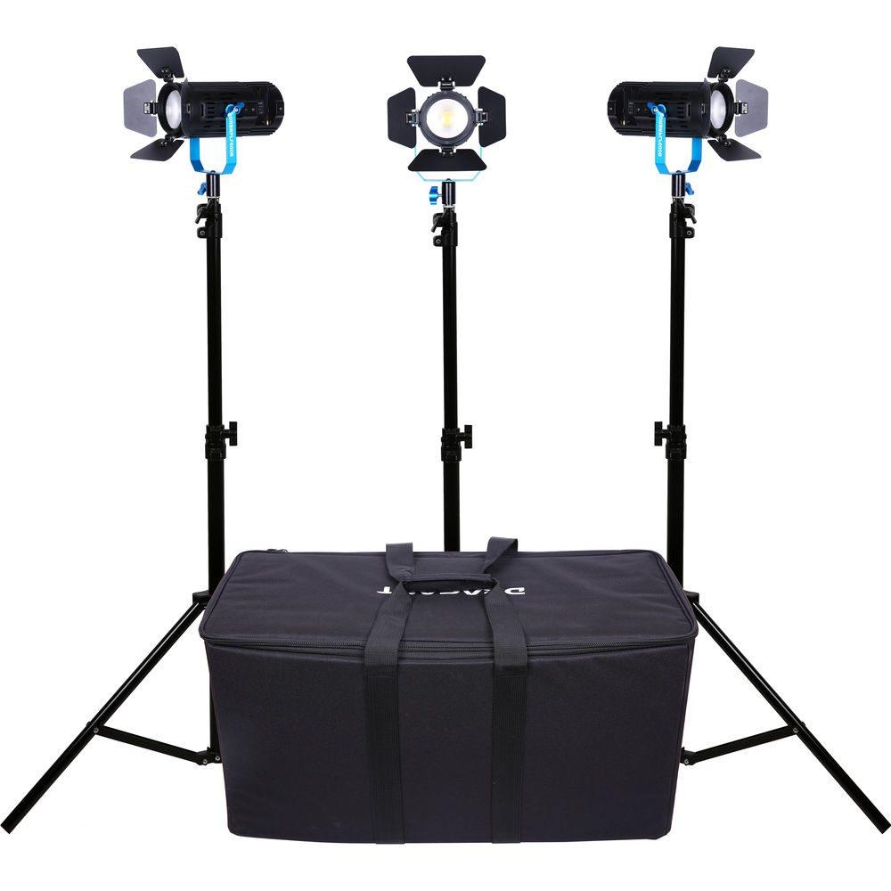 Dracast Boltray 600 Plus LED Bi-Color 3-Light Kit with Soft Padded Case