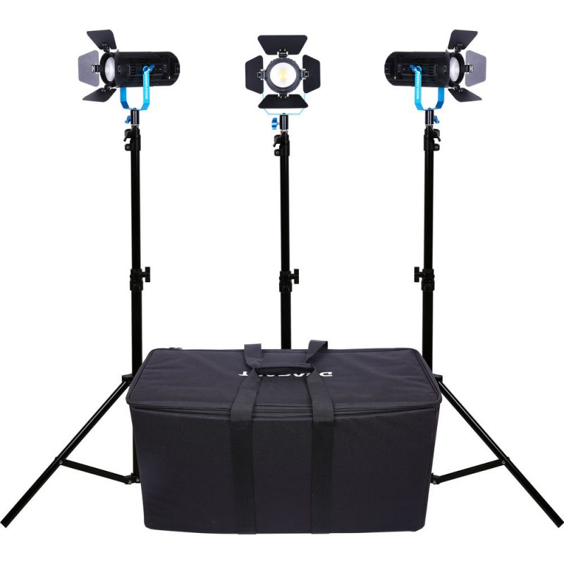 Dracast Boltray 600 Plus LED Bi-Color 3-Light Kit with Soft Padded Case