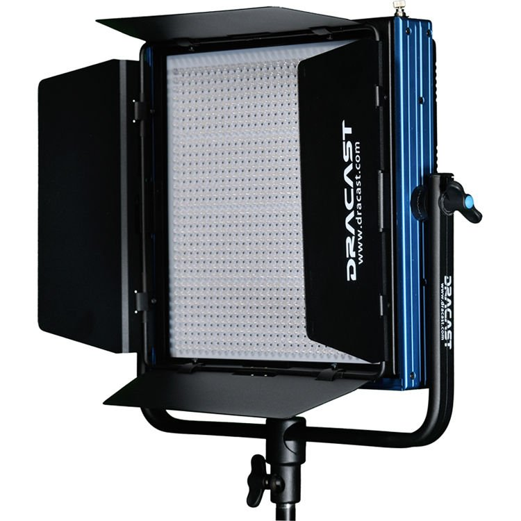 Dracast Plus LED1000 Bi-Color 3-Light Newsroom Kit with V-Mount and Gold Mount Battery Plates