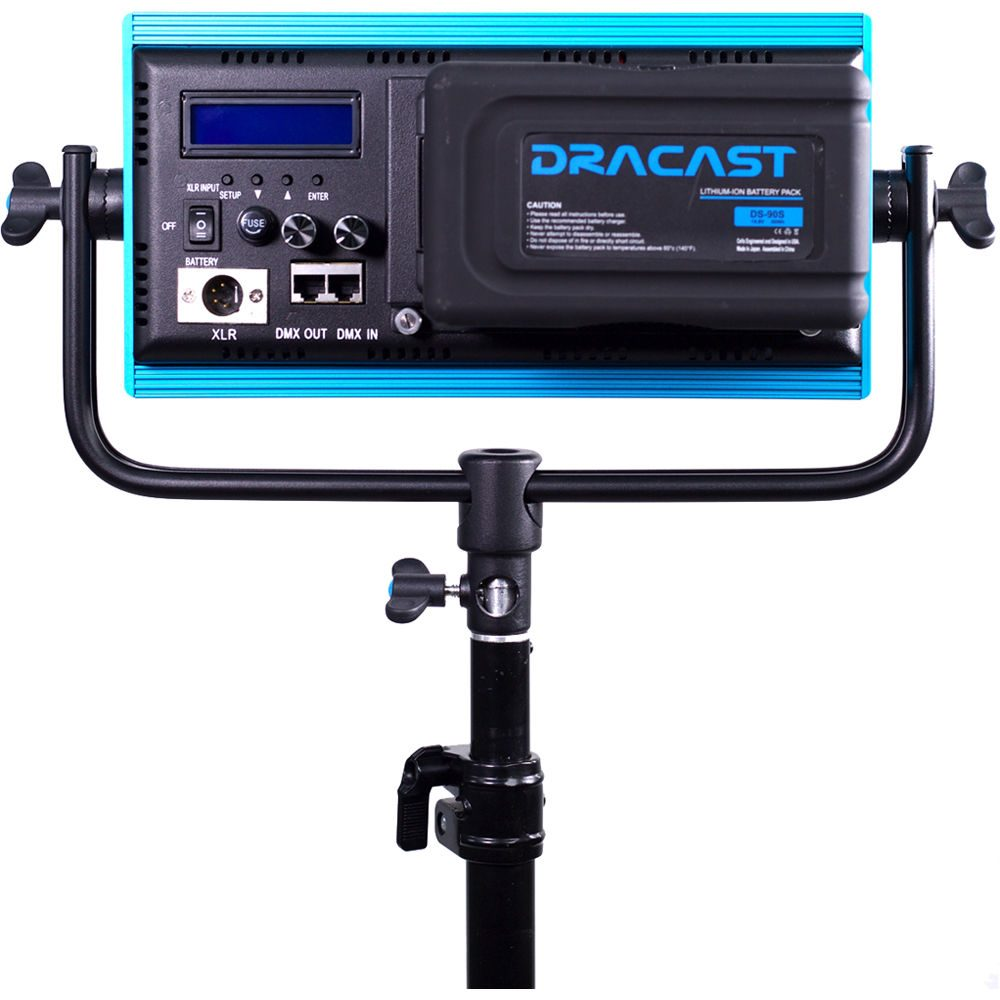 Dracast Plus Series Bi-Color 3-Light Portrait Kit with V-Mount and Gold Mount Battery Plates