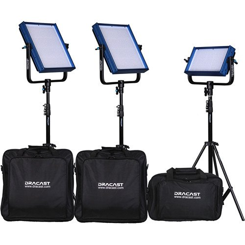 Dracast Plus Series Daylight 4-Light ENG Kit with V-Mount and Gold Mount Battery Plates