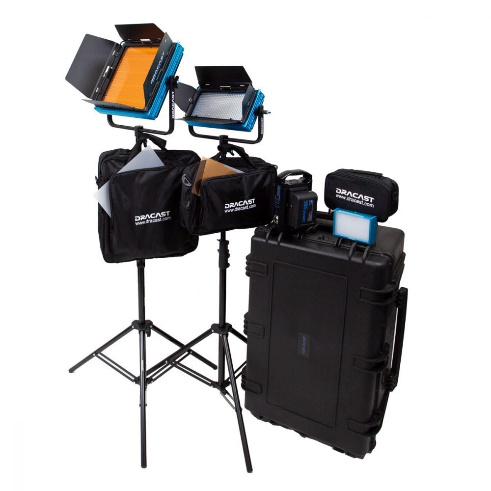 Dracast Plus Series Daylight 3-Light Portrait Kit with V-Mount and Gold Mount Battery Plates