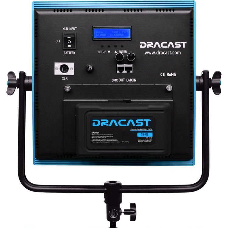 Dracast Plus LED1000 Daylight 3-Light Studio Kit with V-Mount and Gold Mount Battery Plates