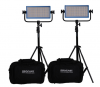 Dracast Bi-Color 3-Light Interview Kit with Gold Mount Battery Plates