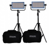 Dracast Daylight 3-Light Interview Kit with Gold Mount Battery Plates