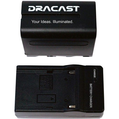 Dracast Pro Series LED160 Aluminum Bicolor On-Camera LED Light with Battery & Charger