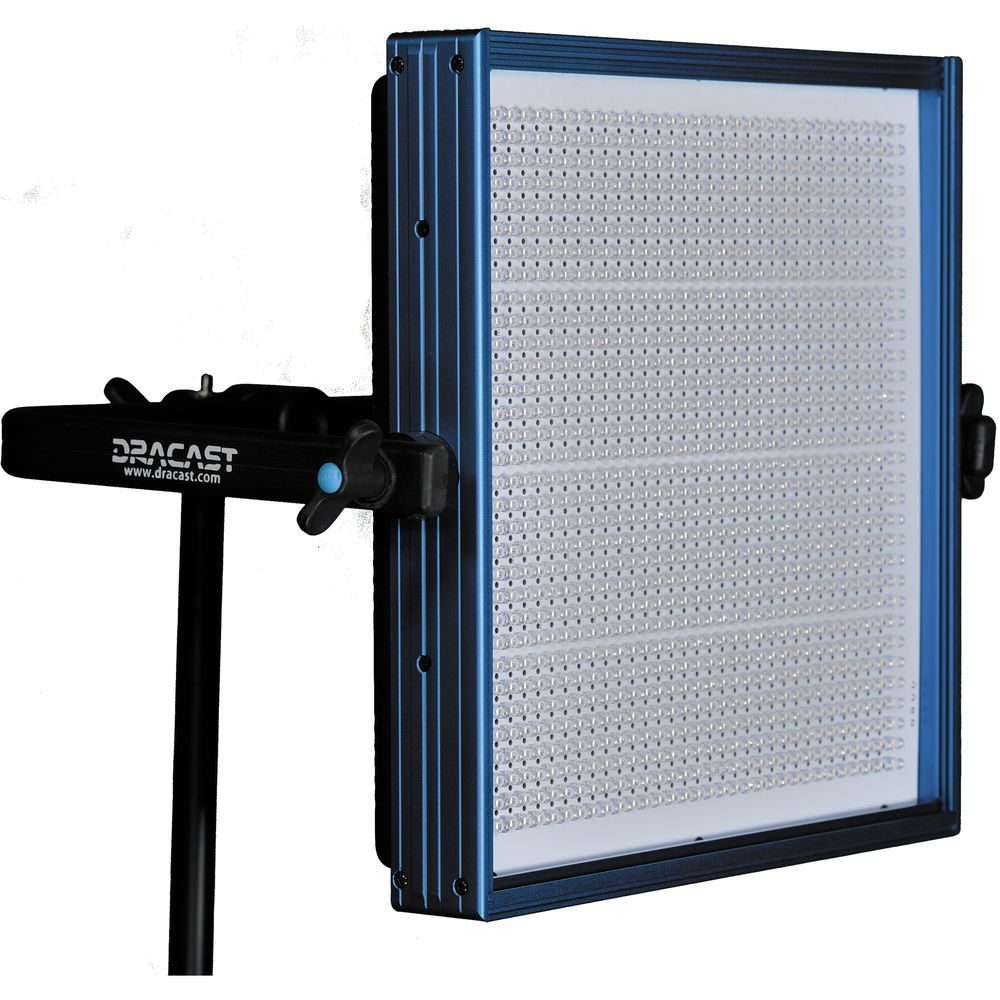 Dracast LED1000 Plus Series Bi-Color 3-Light Kit with V-Mount and Gold Mount Battery Plates and Light Stands
