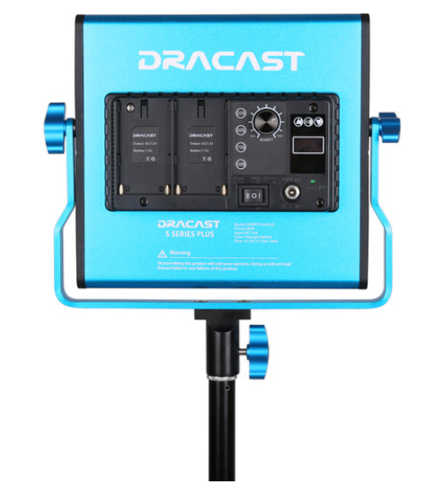Dracast S-Series LED500 Plus Daylight LED 2-Light Kit with NP-F Battery Plates
