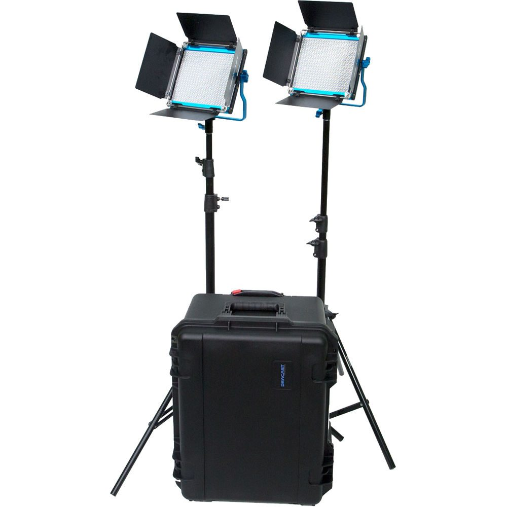 Dracast S-Series LED500 2 Light Kit with Injection Molded Case