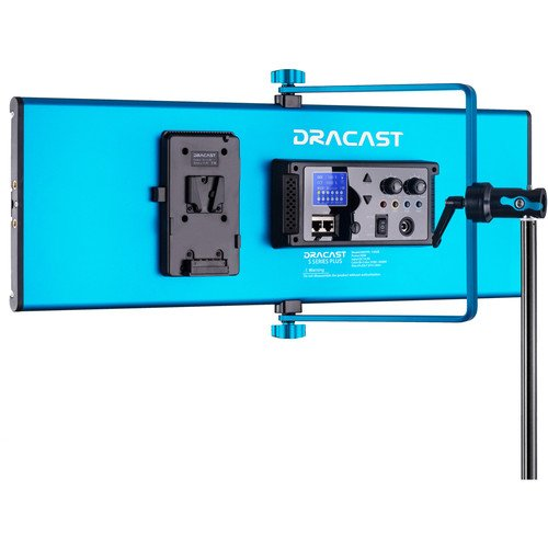 Dracast S-Series Plus Bi-Color LED1500 Panel with V-Mount Battery Plate
