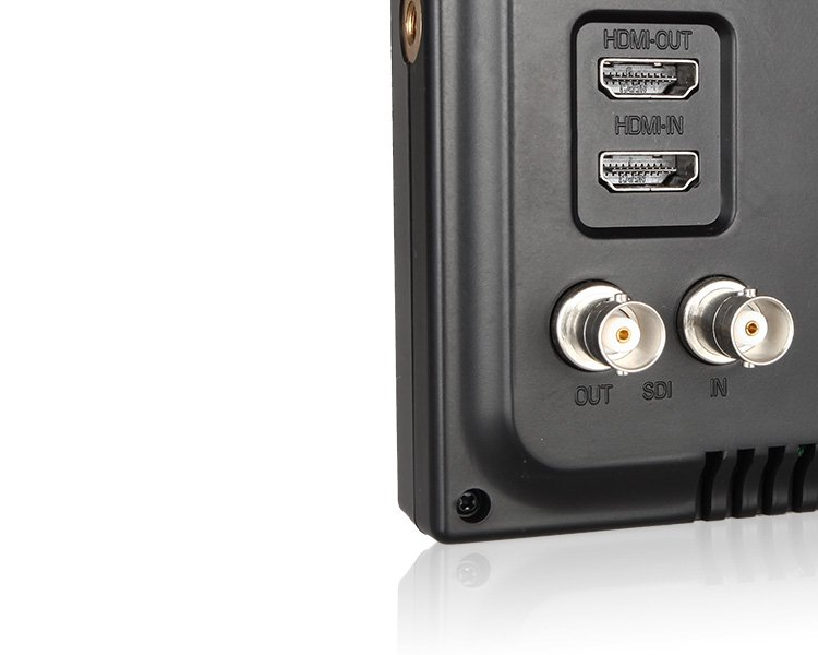 """7"""" IPS 1024x600 Lightweight 3G-SDI HDMI Camera-Top Field Monitor with Peaking DR702"""