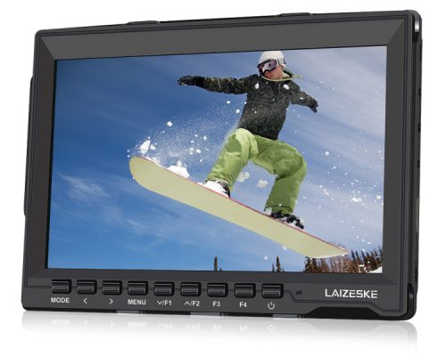 "Laizeske 7"" IPS 1280 x 800 HDMI HD On-Camera Field Monitor with Peaking Focus"