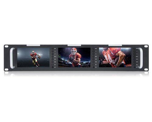 "Laizeske RAC51H Triple 5"" LCD Rack Monitor"