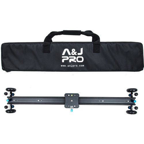"A&J PRO Moving Dolly Track Camera Slider (29"" Sliding Length, 22 Pound Payload)"