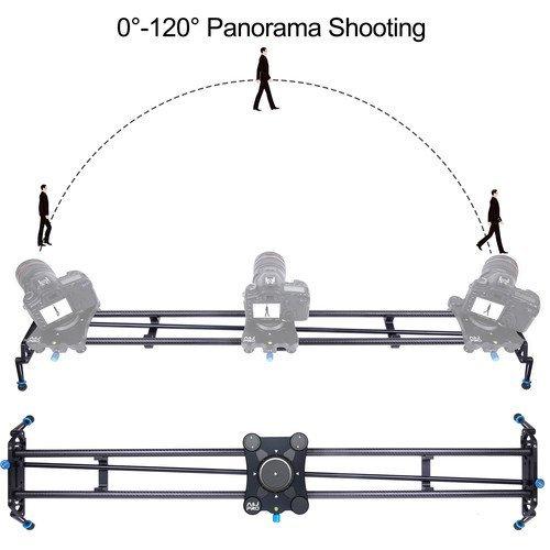 "A&J PRO Portable Parallax Camera Slider with Carbon Fiber Rail (47.2"")"