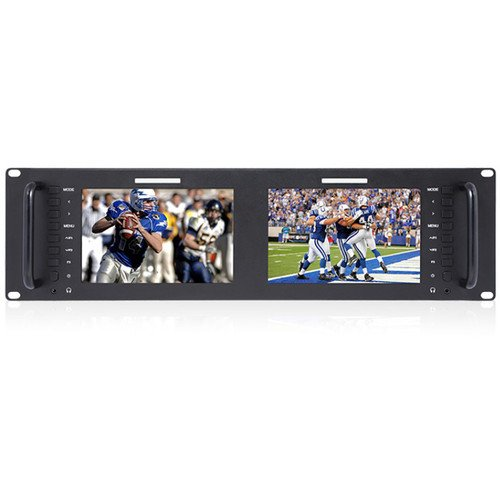 Avinair Spectre Dual Rack Monitor with HDMI, Video & Audio Inputs