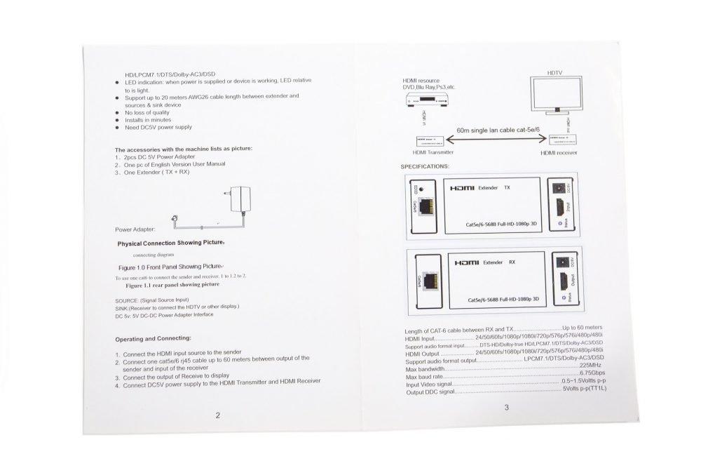 Avinair Spitfire Pro HDMI (HDMI/USB/IR) over Cat 5e/6 KVM Extender Kit
