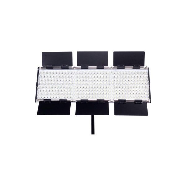Dracast Silver Series LED1500 Bi-Color Panel with V-Mount Battery Plate