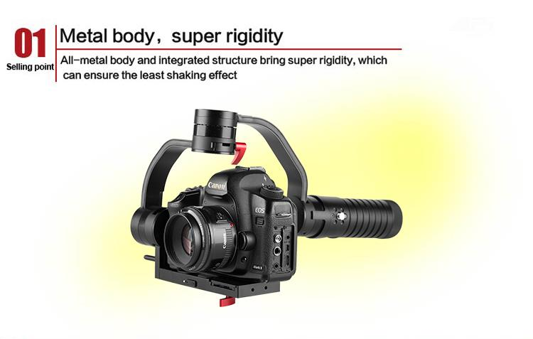 Draco Broadcast AFi VS-3SD 3-Axis Motorized Handheld Gimbal for DSLR/Mirrorless Camera