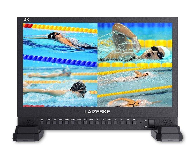 "Laizeske 15.6"" IPS 4K UHD Broadcast Monitor"
