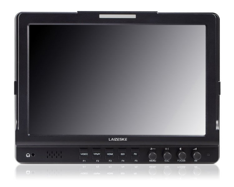 """Laizeske 10.1"""" 1280 x 800 HDMI Camera-Top IPS Monitor with Peaking Focus"""