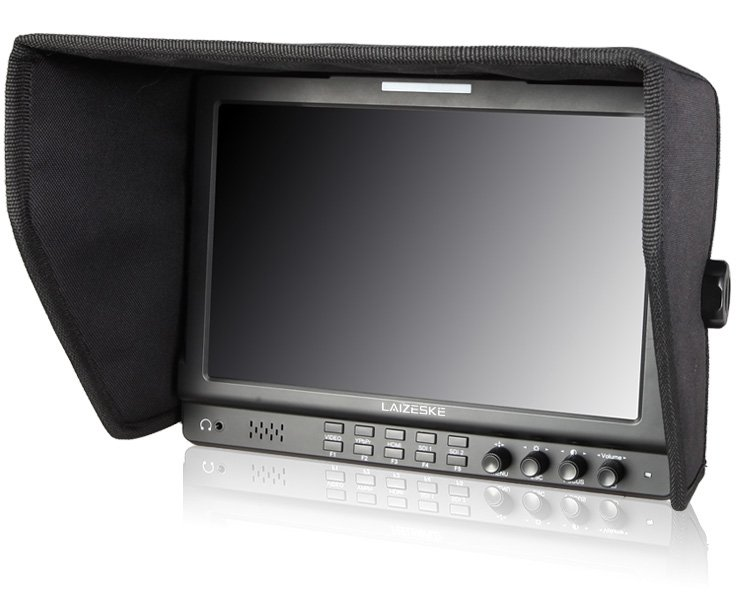 "Laizeske 10.1"" IPS 1280 x 800 Dual Switch 3G-SDI Camera-Top Monitor"