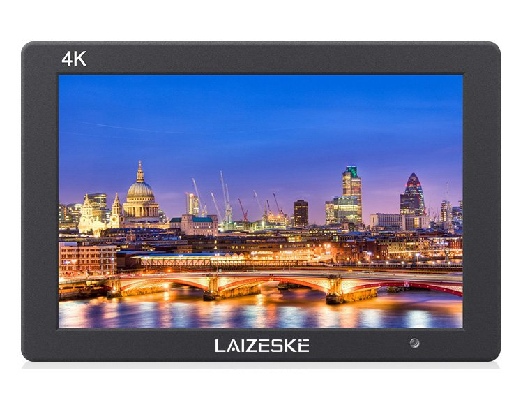 "Laizeske 7"" On-Camera Monitor With 4K Hdmi Ips 1920X1200 Rugged Aluminum Housing False Color Histogram Audi"