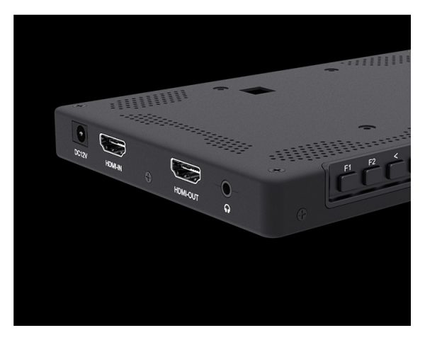 "Laizeske 7"" On-Camera Monitor With 4K Hdmi Ips 1920X1200 Rugged Aluminum Housing False Color Histogram Audi"