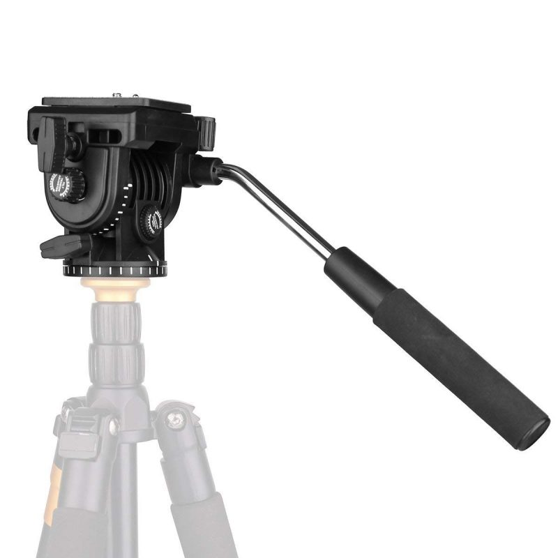 Kingjoy VT1510 Video Camera Tripod Action Fluid Drag Pan Head