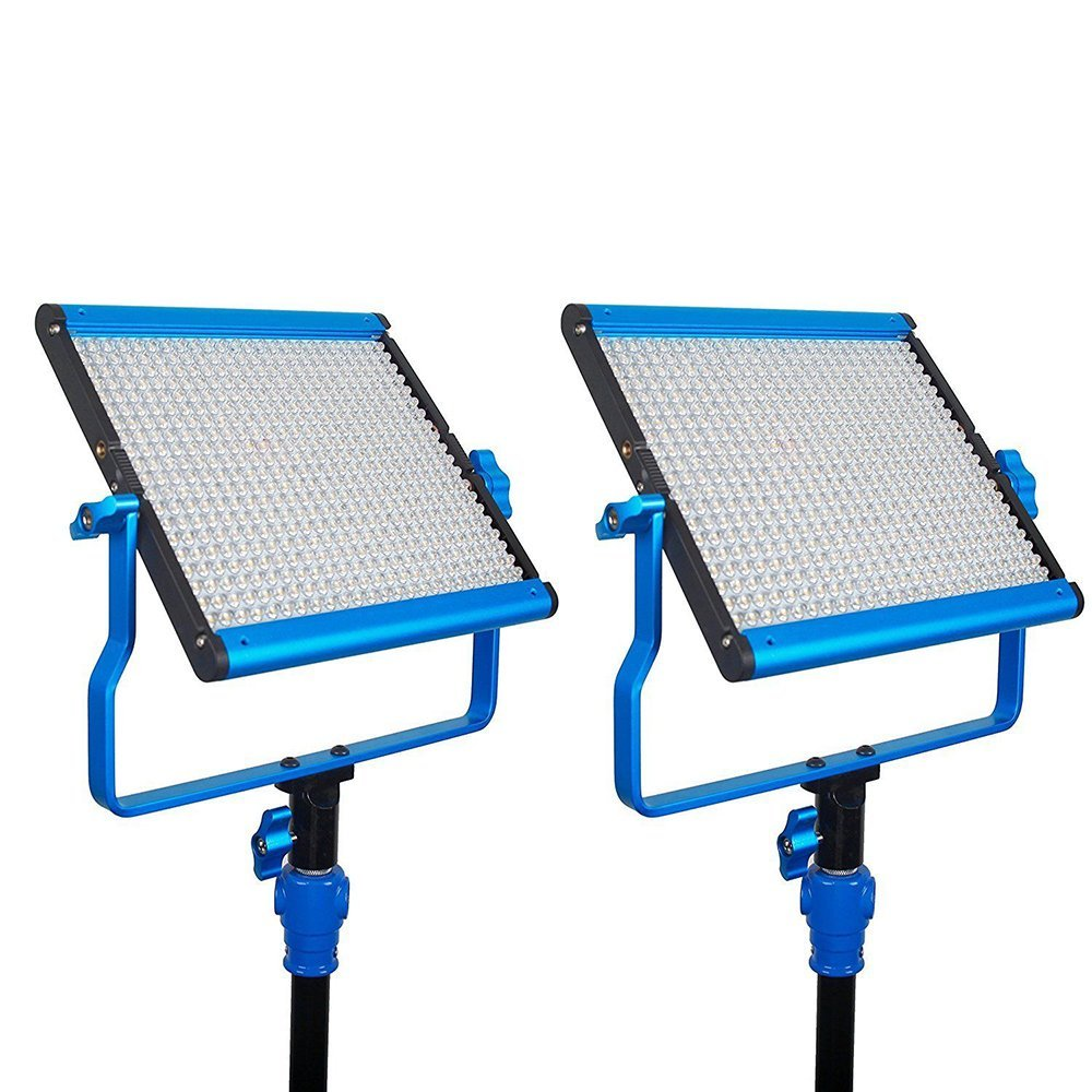 Dracast DRASP-LK-2X500B Bi-Color LED500 2-LIGHT KIT with NPF Battery Plates
