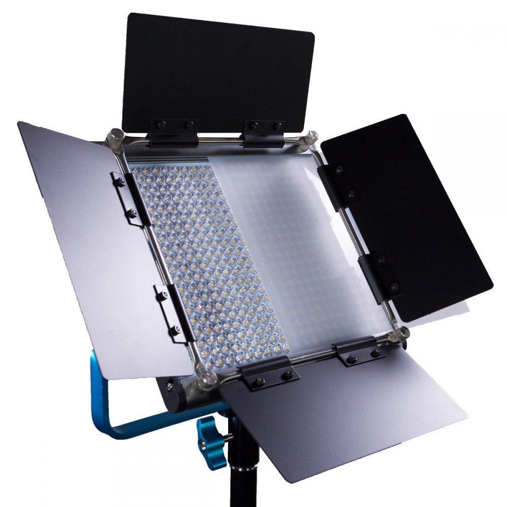 Dracast DRL500SBNC4LK Bicolor LED500 Video Panel 4-Light Kit with NP-F Battery Plates