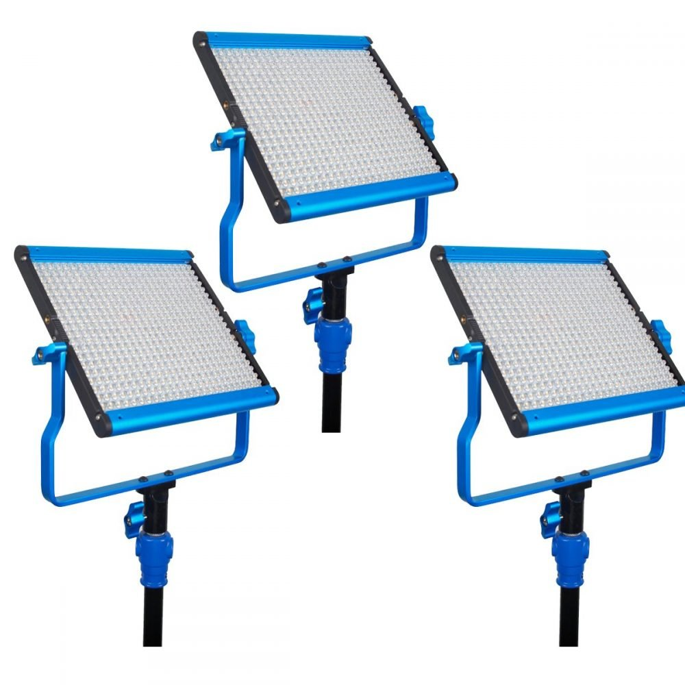 Dracast S-Series LED500 Bi-Color 3-Light Kit with V-Mount Battery Plates