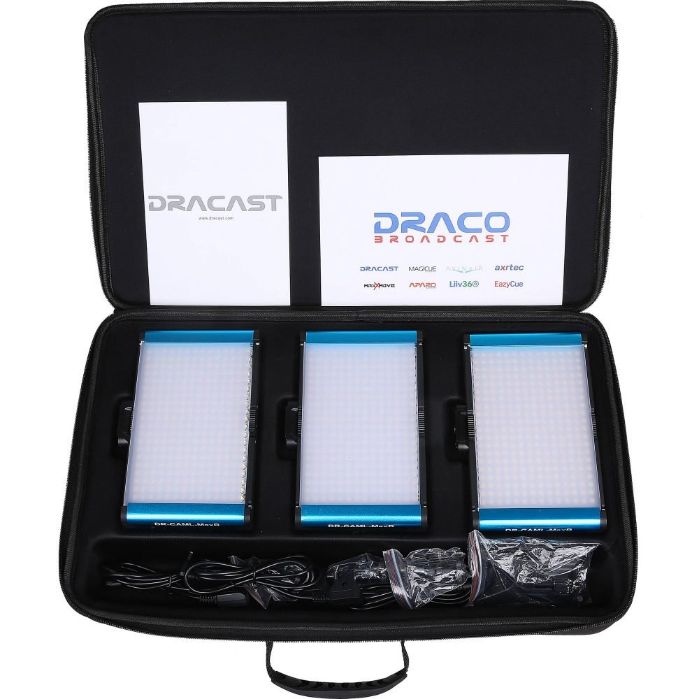Dracast CamLux Max Bi-Color 3 Light Kit