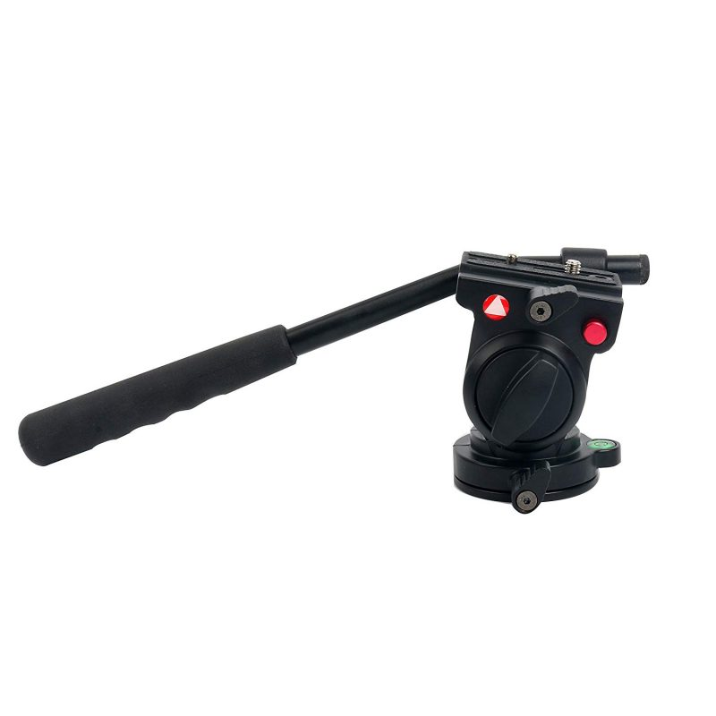 KINGJOY KH-6750 Flexible Aluminum Camera Tripod Head Fluid Video Tripod Head