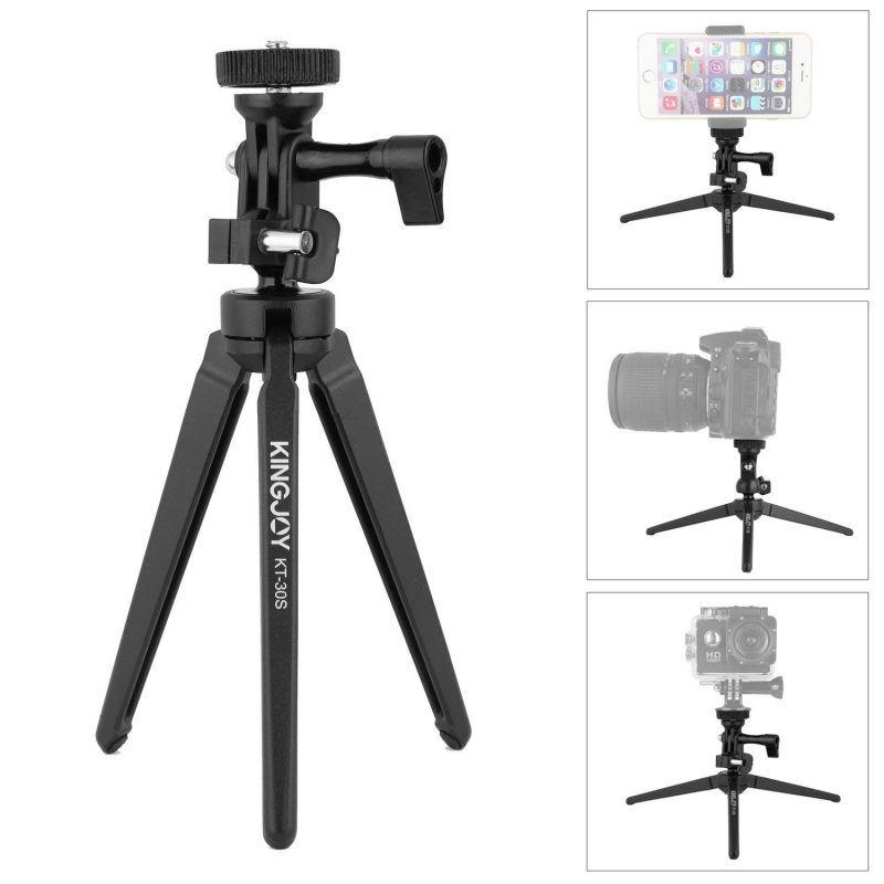 Kingjoy KT30S Aluminum Mini Travel Tabletop Tripod Legs