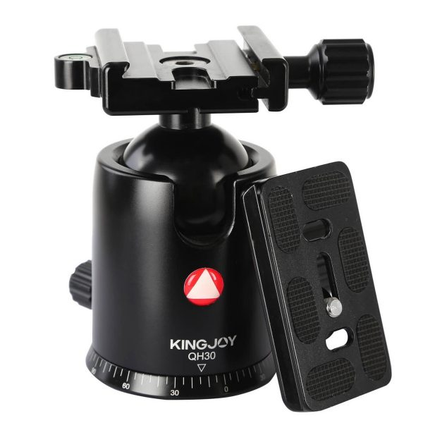 Kingjoy QH30 black QH Series High-end Damping Ball Head