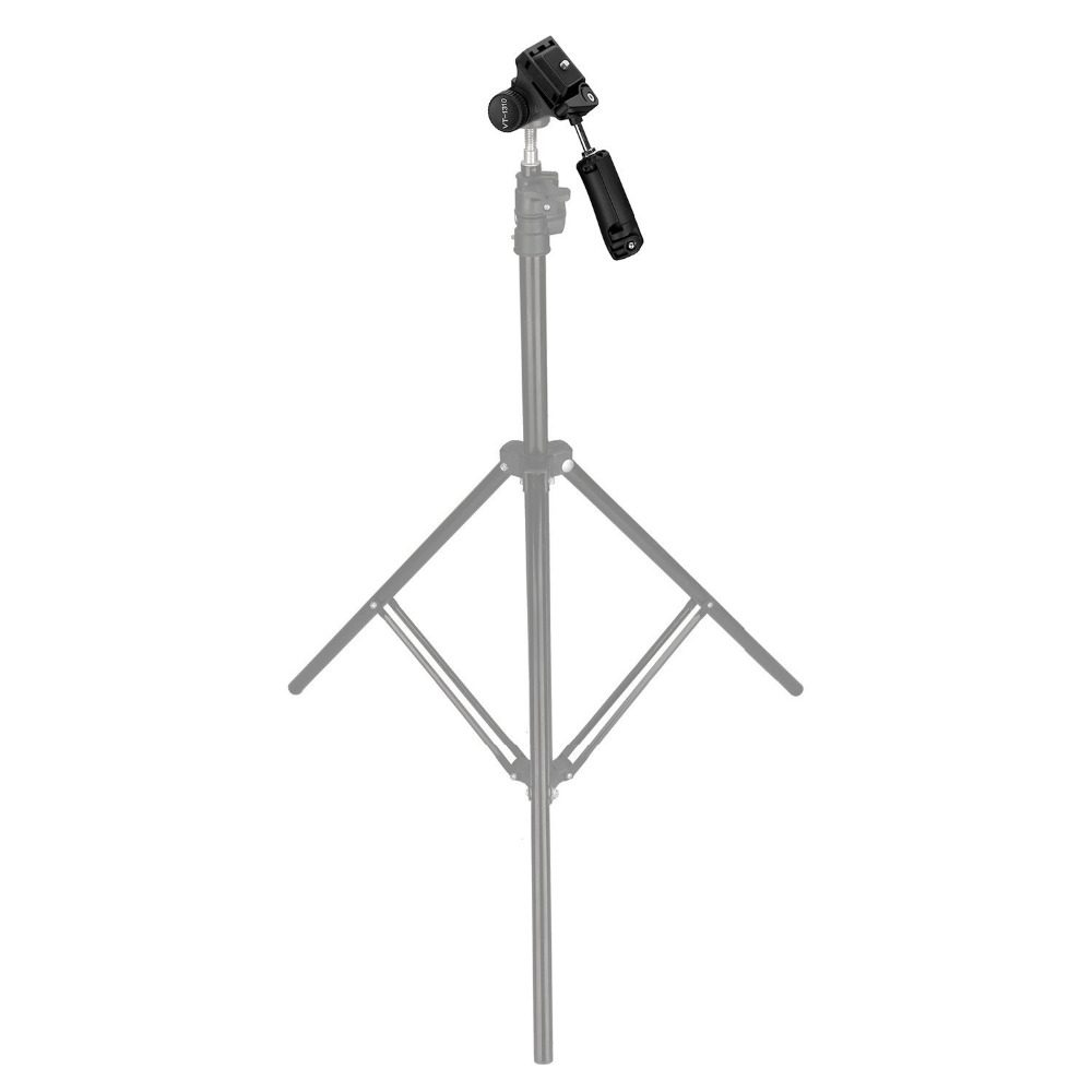 KINGJOY VT-1310 Lightweight Camera Video Tripod Pan Tilt Head with Phone Clip