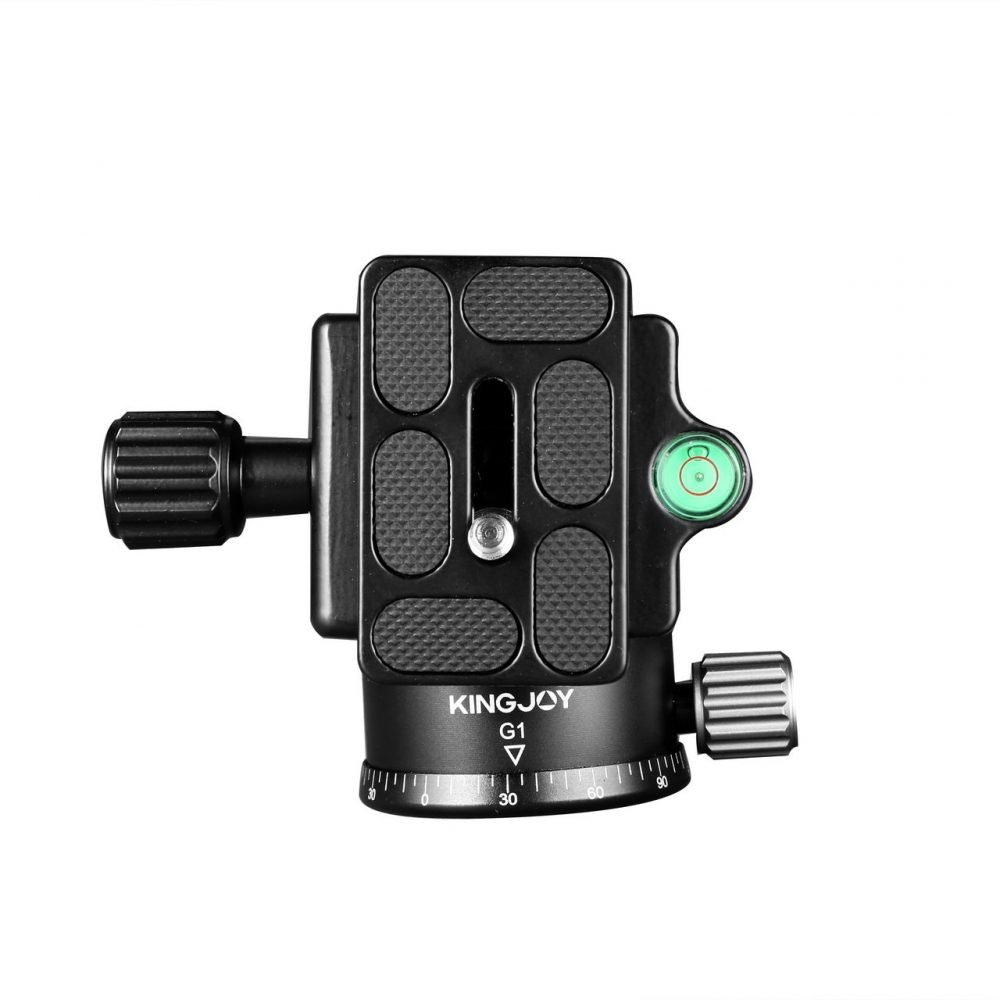 KINGJOY G1 360 degree rotation ball head with Arca Swiss Quick Release Plate