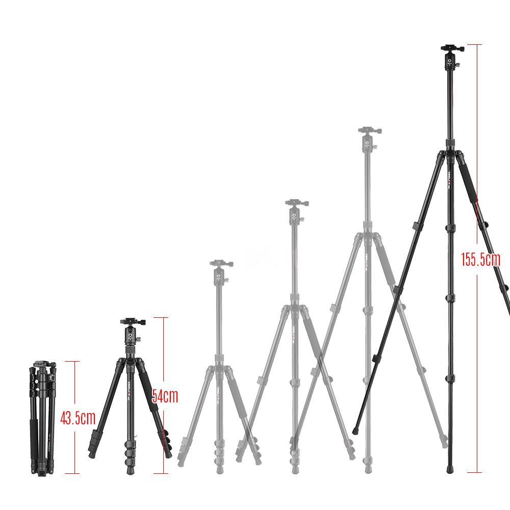 Kingjoy G555+G0 4-Section Travel Tripod with Panoramic Ball Head