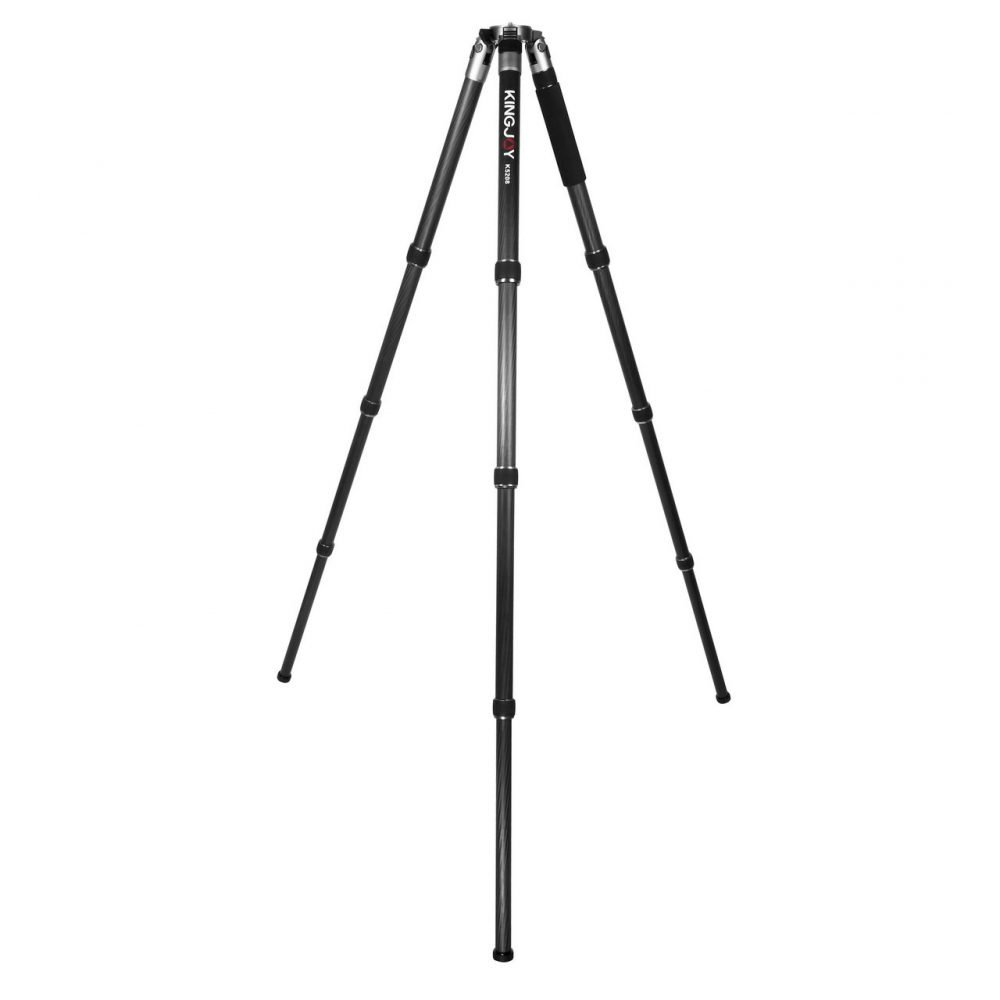 Kingjoy K5208 Heavy Duty Carbon Fiber Video and Photo Tripod