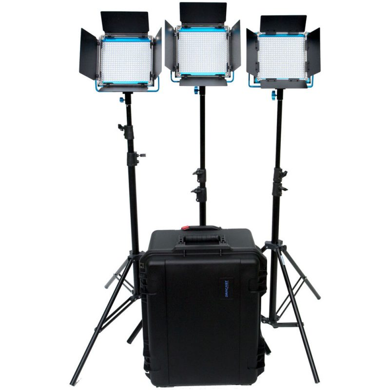 Dracast LED500 S-Series Daylight 3-Light Kit with V-Mount Battery Plates and Hard Case
