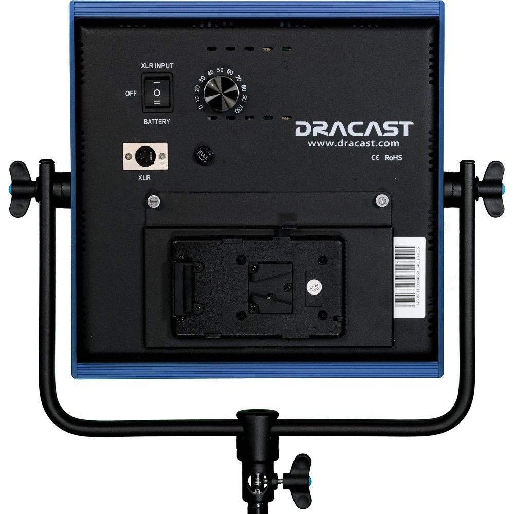 Dracast LED1000 Pro Tungsten LED Light with V-Mount Battery Plate