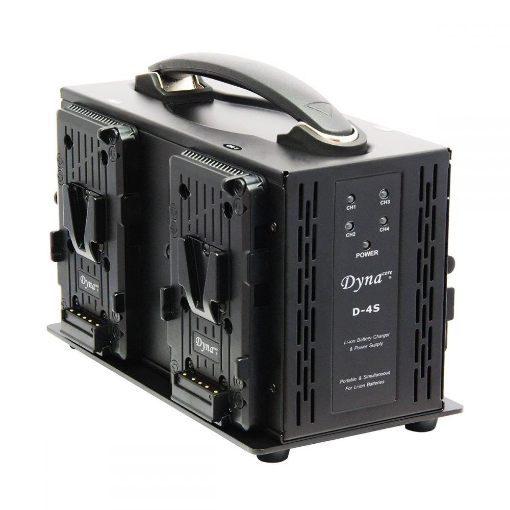 Dynacore D-4S Portable Simultaneous 4-channel Quad V-Mount Battery Charger