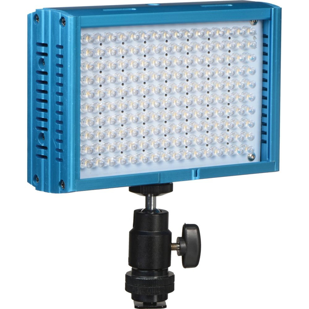 Dracast LED160 Tungsten On-Camera Light with Battery and Charger (Aluminum, Blue)