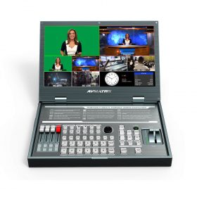 "AVMatrix PVS0615 Portable 6-Channel Video Switcher with 15.6"" LCD Monitor"